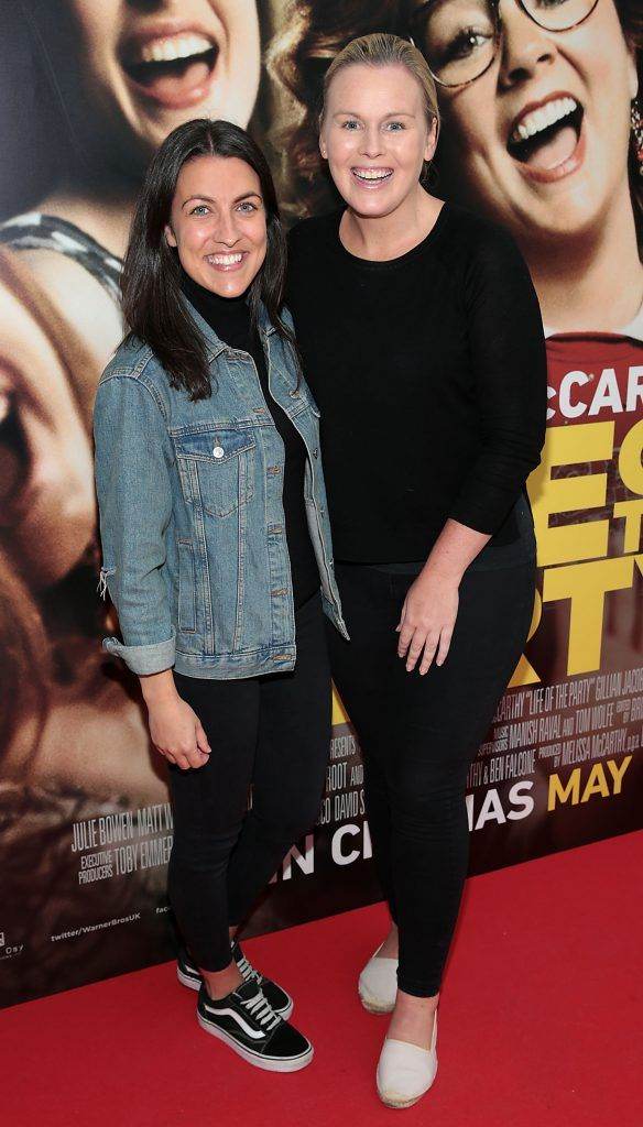 Catriona McGinley and Catriona O Connor at the special preview screening of Life of the Party at Omniplex Cinema in Rathmines, Dublin. Picture by Brian McEvoy