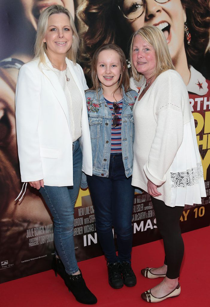 Clare Donnelly Mahon, Halle Donnelly Mahon and Denise Nolan at the special preview screening of Life of the Party at Omniplex Cinema in Rathmines, Dublin. Picture by Brian McEvoy
