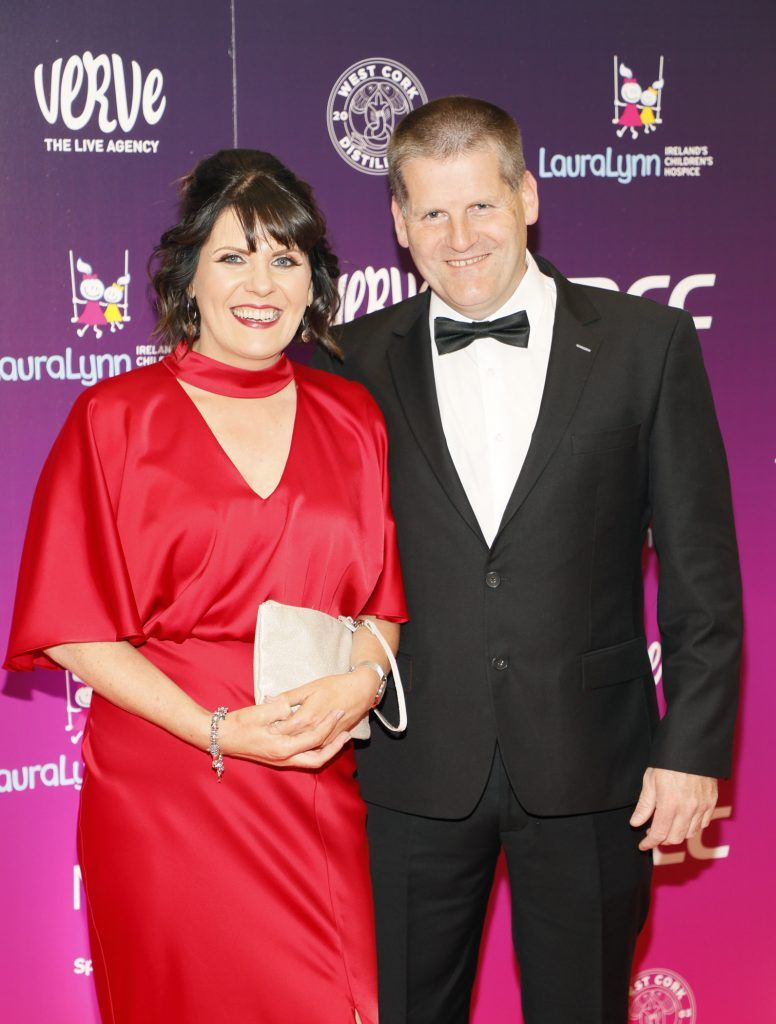 Gary and Majella O'Connor at the third annual LauraLynn Heroes Ball at Dublin's InterContinental Hotel, May 12th 2018. Photo: Kieran Harnett