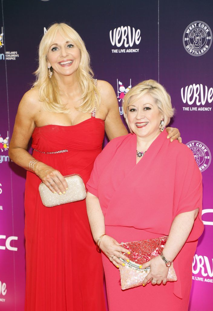 Miriam O'Callaghan and Carmel Breheny at the third annual LauraLynn Heroes Ball at Dublin's InterContinental Hotel, May 12th 2018. Photo: Kieran Harnett