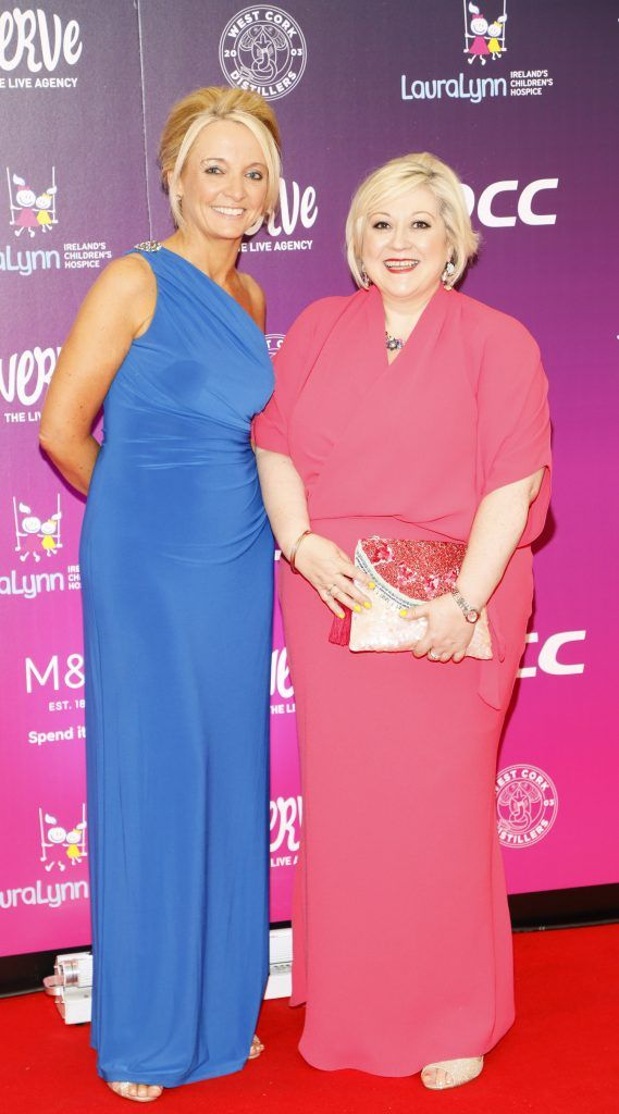 Orla O'Brien and Carmel Breheny at the third annual LauraLynn Heroes Ball at Dublin's InterContinental Hotel, May 12th 2018. Photo: Kieran Harnett