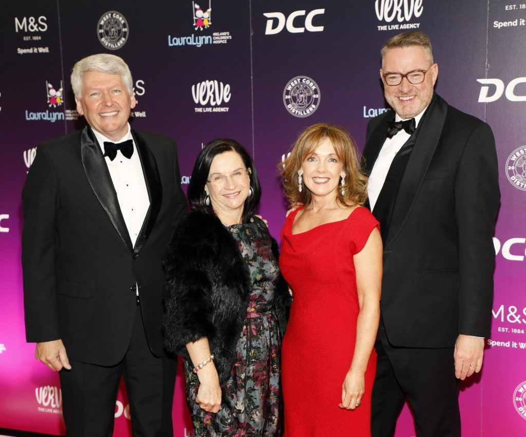 Derry Gray, Eilish Finan, Alison Cowzer and Michael Carey at the third annual LauraLynn Heroes Ball at Dublin's InterContinental Hotel, May 12th 2018. Photo: Kieran Harnett