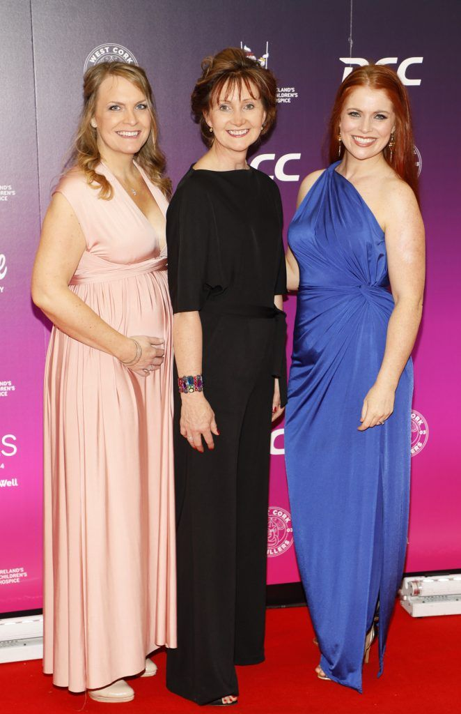 Michelle Reynolds, Pauline Murphy and Niamh Doyle at the third annual LauraLynn Heroes Ball at Dublin's InterContinental Hotel, May 12th 2018. Photo: Kieran Harnett