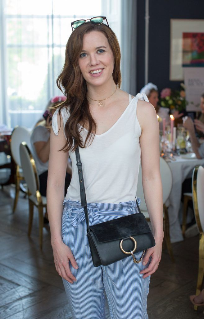 Cathy Donoghue pictured at the Primark Bridal Brunch to celebrate the Royal Wedding at 25 Fitzwilliam Place. Photo: Anthony Woods