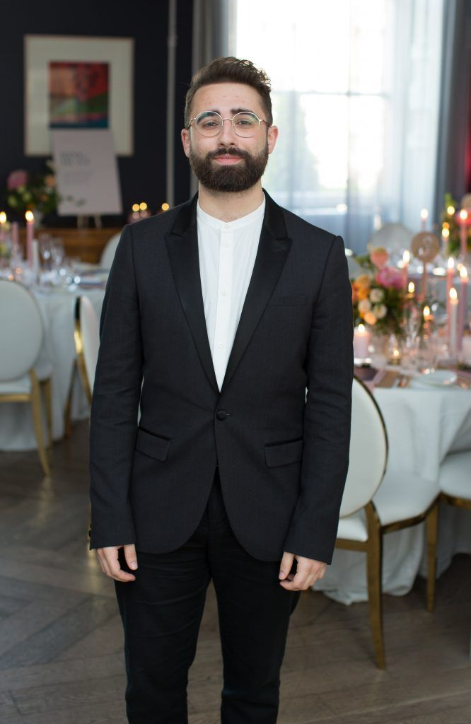 Conor Merriman pictured at the Primark Bridal Brunch to celebrate the Royal Wedding at 25 Fitzwilliam Place. Photo: Anthony Woods