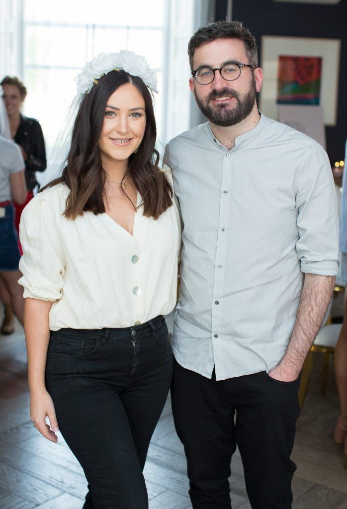 Orla McConnon & Patrick Kavanagh pictured at the Primark Bridal Brunch to celebrate the Royal Wedding at 25 Fitzwilliam Place. Photo: Anthony Woods