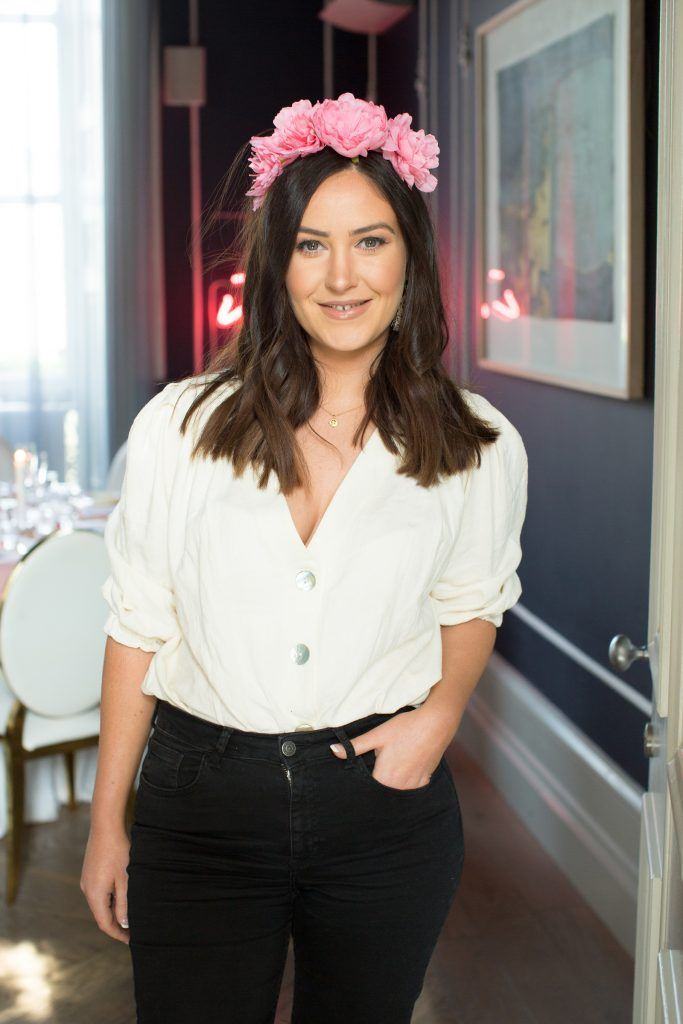 Orla McConnon pictured at the Primark Bridal Brunch to celebrate the Royal Wedding at 25 Fitzwilliam Place. Photo: Anthony Woods
