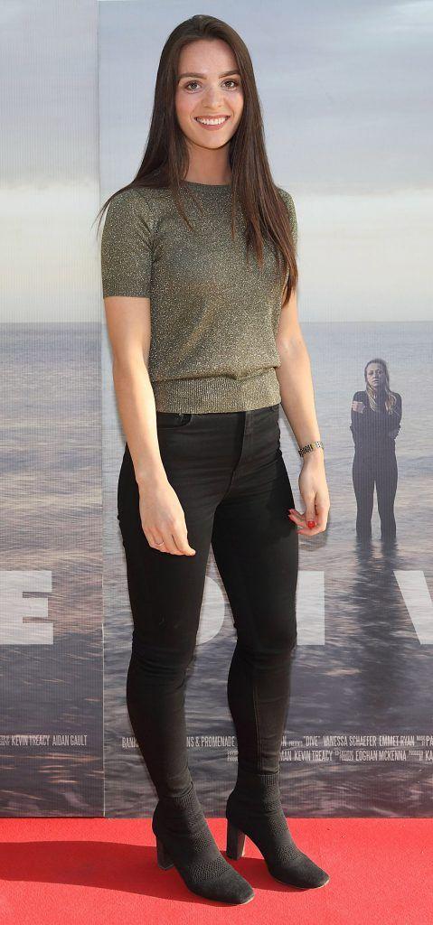 Jessica O'Sullivan pictured at the  Irish Premiere of  the new Irish film DIVE at Omniplex Rathmines,Dublin. Pic Brian McEvoy No Repro fee