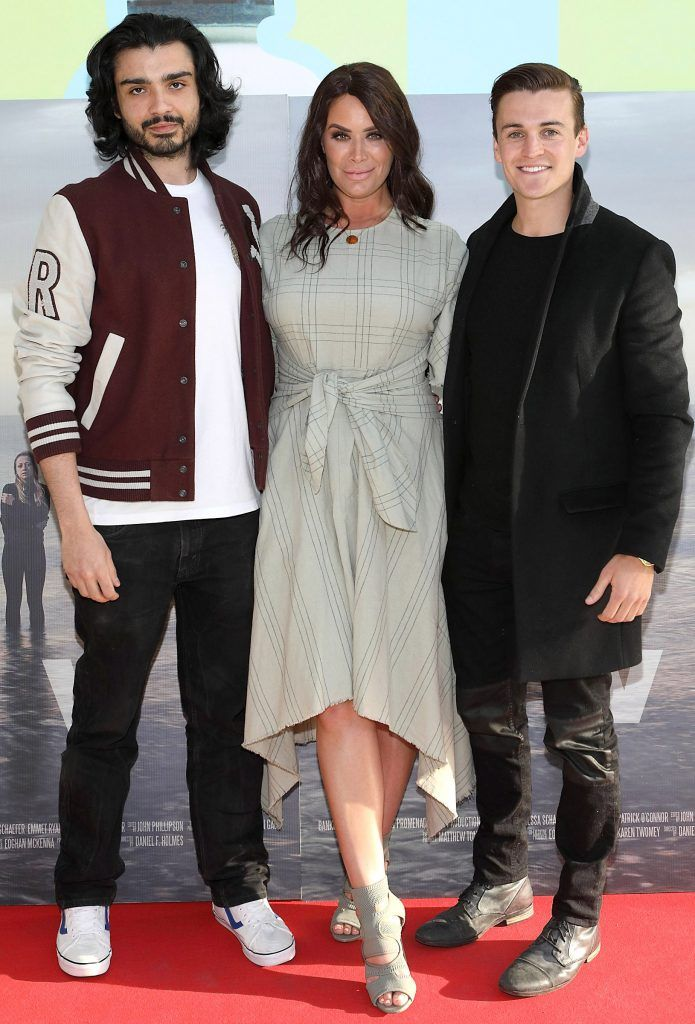 Jason Teji, Joanne Larby and Adam O'Flynn  pictured at the premiere of the new Irish film DIVE at Omniplex Rathmines, Dublin. Photo by Brian McEvoy