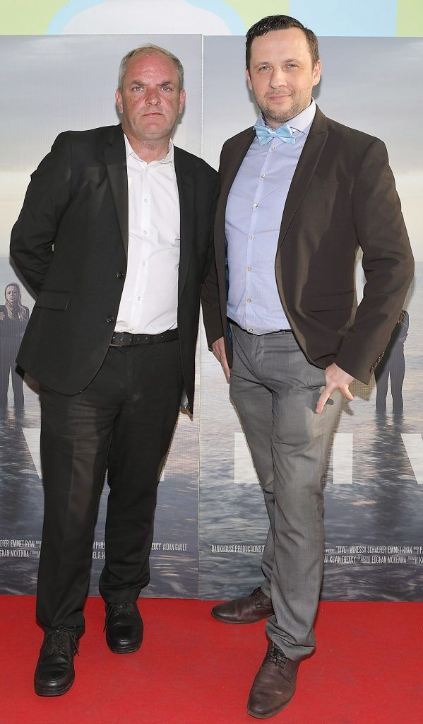 Denis Ward and Lucas Kozanecki pictured at the premiere of the new Irish film DIVE at Omniplex Rathmines, Dublin. Photo by Brian McEvoy