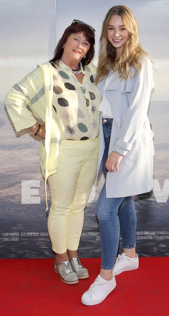 Iris Lennon and Jody Henze pictured at the premiere of the new Irish film DIVE at Omniplex Rathmines, Dublin. Photo by Brian McEvoy