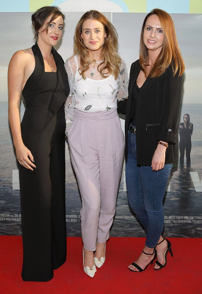 Elaine Kelly Dineen, Mairead Dineen and Gill O'Keeffe pictured at the premiere of the new Irish film DIVE at Omniplex Rathmines, Dublin. Photo by Brian McEvoy