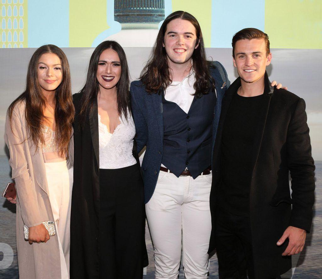 Rachel Kidd, Nicole Kidd, Jason Kidd and Adam O'Flynn pictured at the premiere of the new Irish film DIVE at Omniplex Rathmines, Dublin. Photo by Brian McEvoy