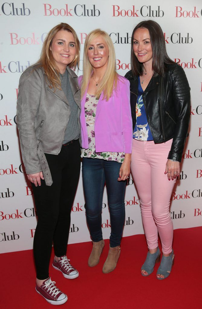 Anne Tracey, Grace Hill and Sarah Connolly pictured at the special preview screening of Book Club in Movies at Dundrum, Dublin. Photo by Brian McEvoy