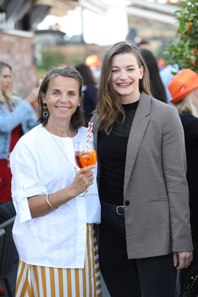 Lisa O'Riordan and Helen Smith pictured as Aperol Spritz, Italy's favourite aperitif, unveiled a new home in Dublin, Terrazza Aperol at Sophie's. Photo by Julien Behal