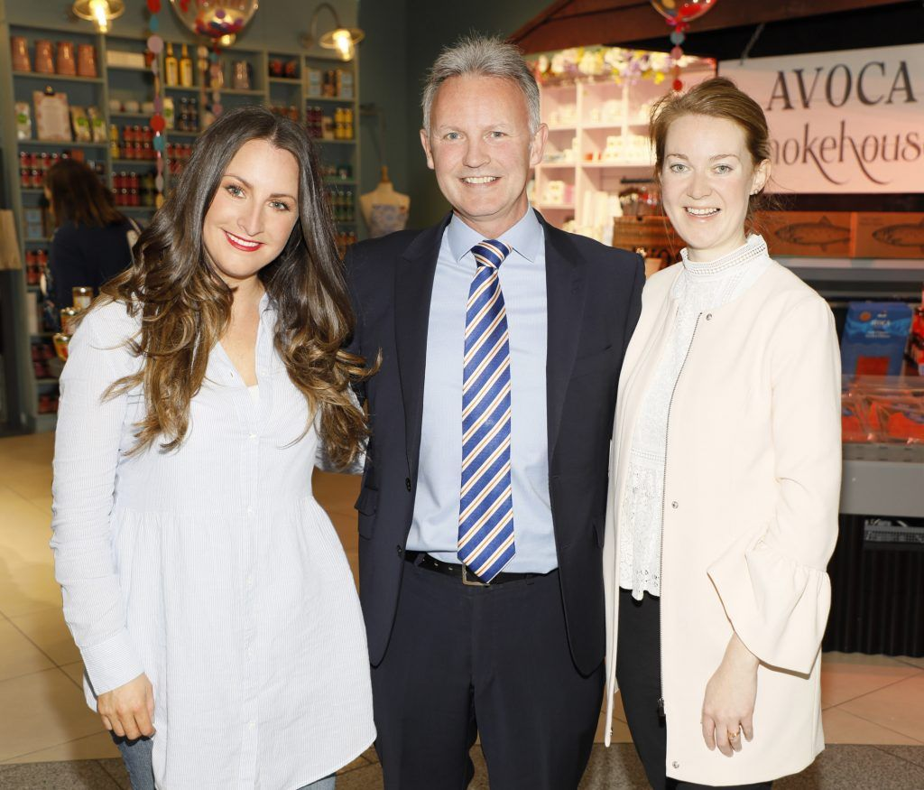 Maoliosa Connell, Martin Carpenter and Anne at the official opening of AVOCA in Terminal 2 at Dublin Airport. Photo Kieran Harnett