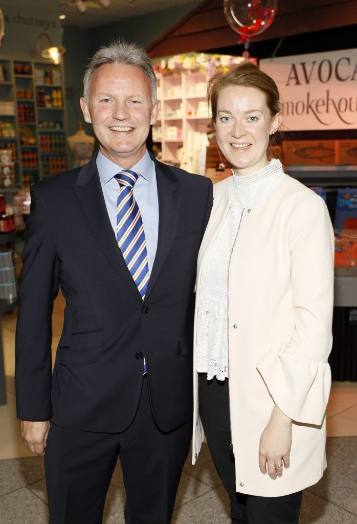 Martin Carpenter and Anne Keane at the official opening of AVOCA in Terminal 2 at Dublin Airport. Photo Kieran Harnett