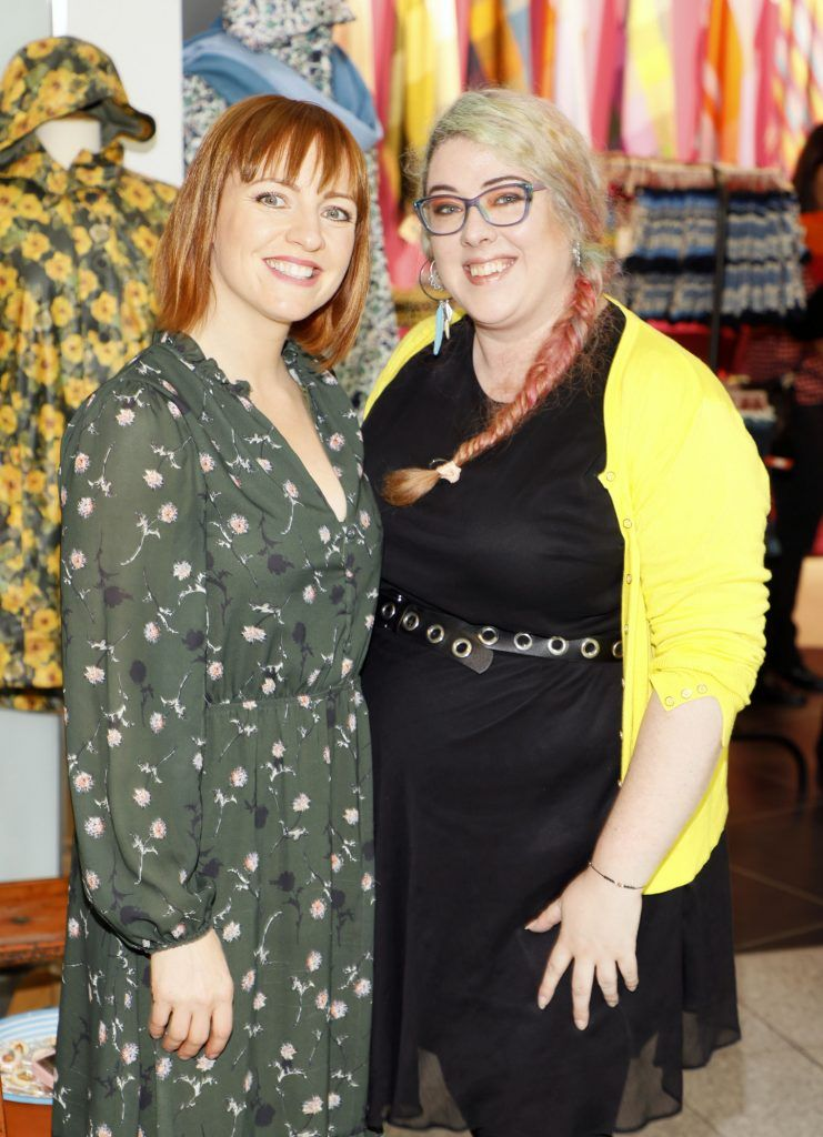 Orlagh Gilsenan and Caitriona Giblin at the official opening of AVOCA in Terminal 2 at Dublin Airport. Photo Kieran Harnett