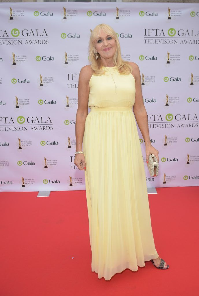 Miriam O'Callaghan arriving on the red carpet for the IFTA Gala Television Awards 2018 at the RDS. Photo by Michael Chester