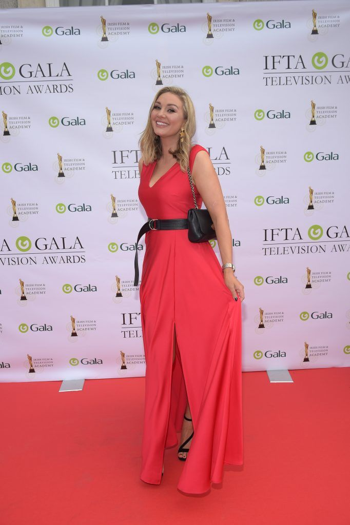Anna Daly arriving on the red carpet for the IFTA Gala Television Awards 2018 at the RDS. Photo by Michael Chester