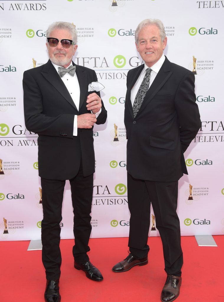 John and Chris McColgan arriving on the red carpet for the IFTA Gala Television Awards 2018 at the RDS. Photo by Michael Chester