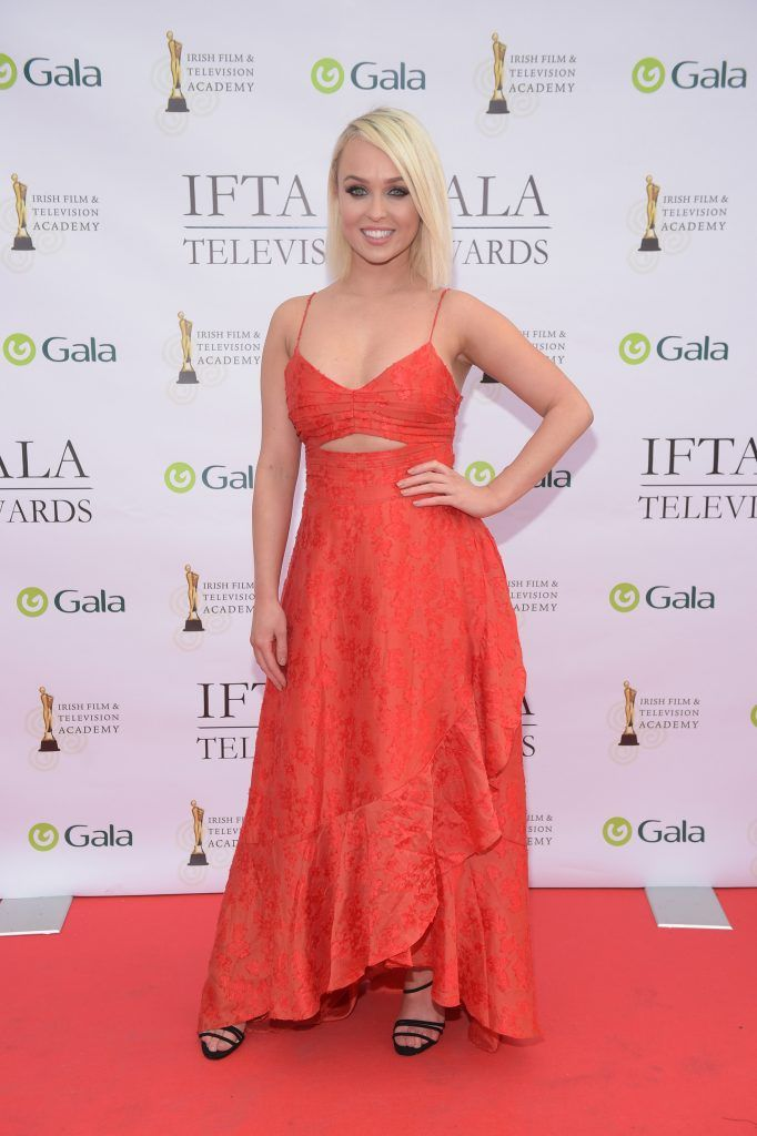 Georgie Porter arriving on the red carpet for the IFTA Gala Television Awards 2018 at the RDS. Photo by Michael Chester