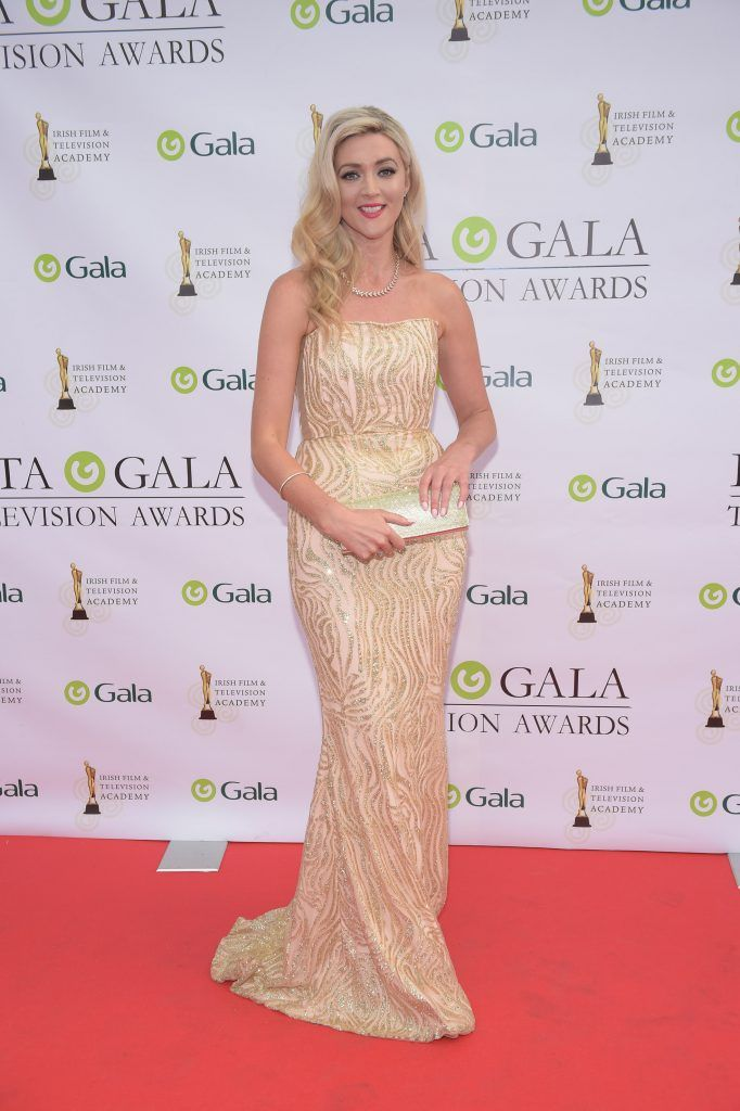 Jenny Dixon arriving on the red carpet for the IFTA Gala Television Awards 2018 at the RDS. Photo by Michael Chester