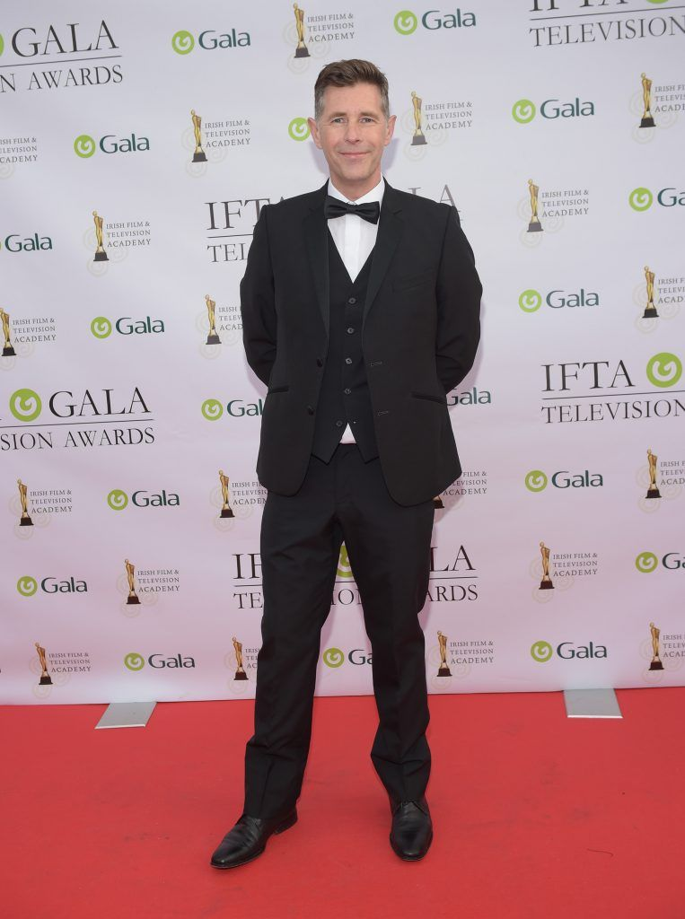 Dermot Bannon arriving on the red carpet for the IFTA Gala Television Awards 2018 at the RDS. Photo by Michael Chester