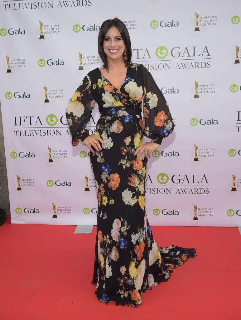 Lucy Kennedy arriving on the red carpet for the IFTA Gala Television Awards 2018 at the RDS. Photo by Michael Chester