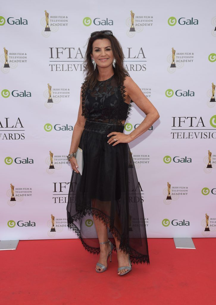 Deirdre O'Kane arriving on the red carpet for the IFTA Gala Television Awards 2018 at the RDS. Photo by Michael Chester