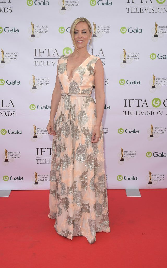 Kathryn Thomas arriving on the red carpet for the IFTA Gala Television Awards 2018 at the RDS. Photo by Michael Chester