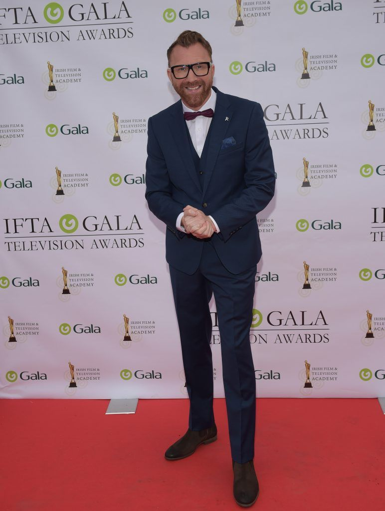 Jason Byrne arriving on the red carpet for the IFTA Gala Television Awards 2018 at the RDS. Photo by Michael Chester