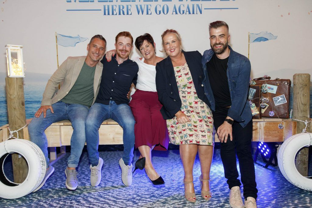 Alfred Bozic, John O'Malley, Claire Jones, Erica Griffina and Miguel Rivas pictured at the Universal Pictures Irish premiere screening of MAMMA MIA! HERE WE GO AGAIN at Odeon Point Square, Dublin. Picture Andres Poveda
