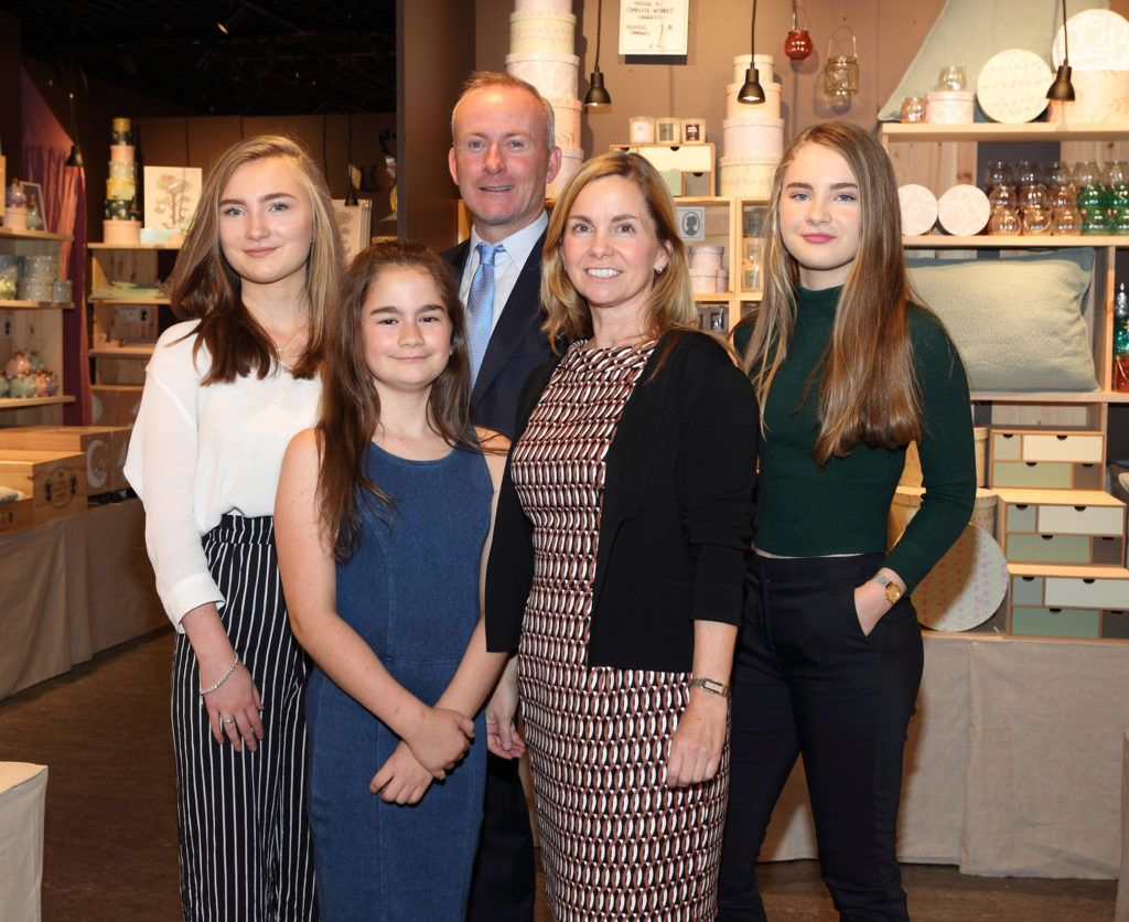 Nora Lawlor, Shea Lawlor, Niall Lawlor, Heather Lawlor and Molly Lawlor  at the opening of Søstrene Grene on South Great Georges Street, Dublin. Picture: Brian McEvoy Photograpy