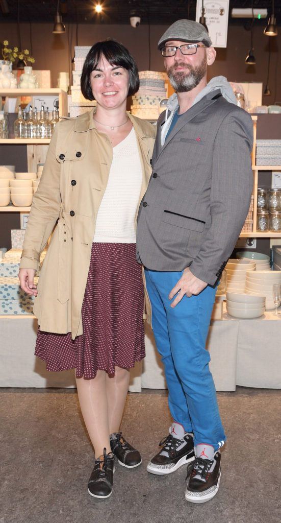 Emma Flanagan and John Moore at the opening of Søstrene Grene on South Great Georges Street, Dublin. Picture: Brian McEvoy Photograpy