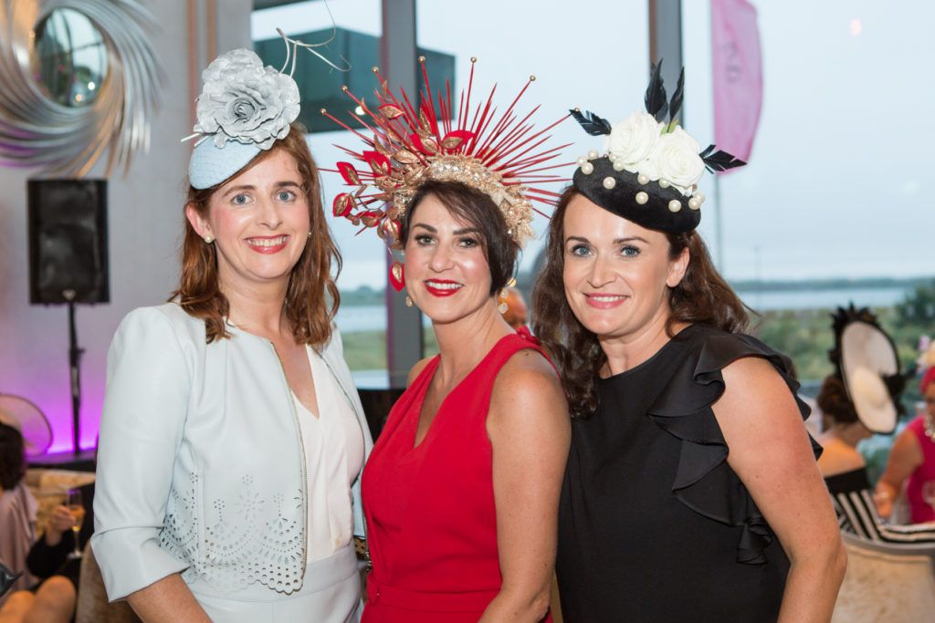 Sinead McHugh, Tracy Dunbar and Yvonne McKeown at the Ladies Day After Party in the g Hotel & Spa. Photo: Martina Regan