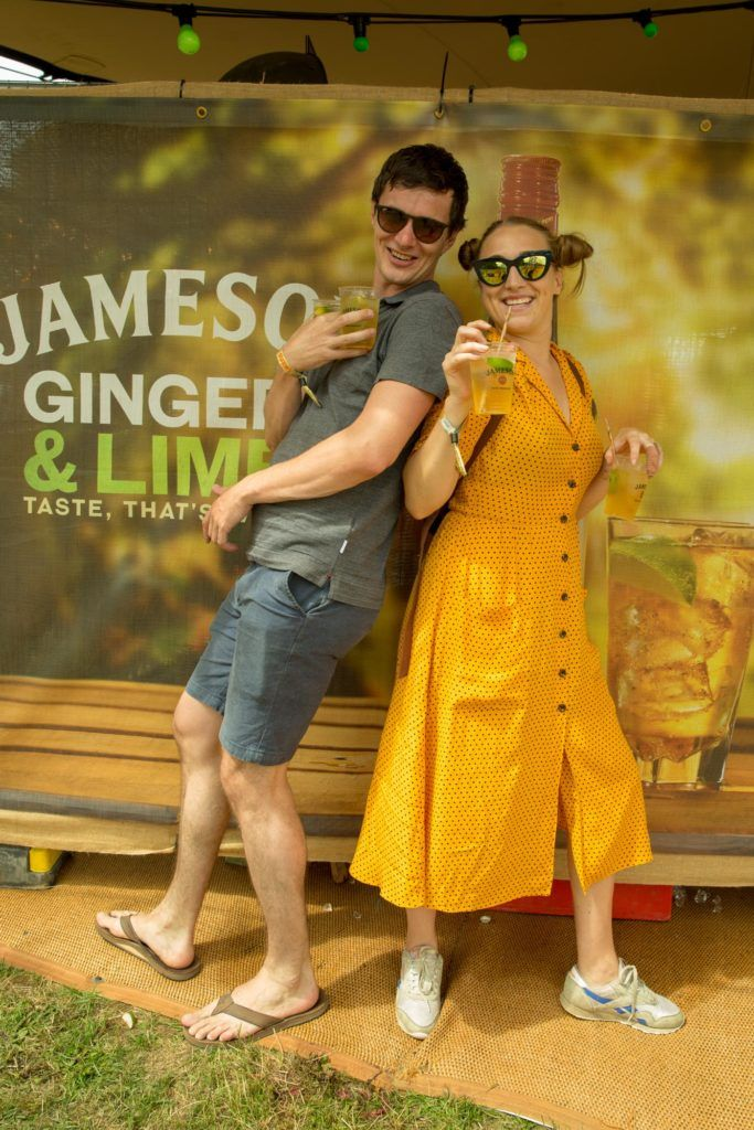 Siwob Barlette & Tulio  Camaro pictured at The Jameson Bar at All together now Festival in Waterford over the Bank holiday weekend. Picture: Allen Kiely