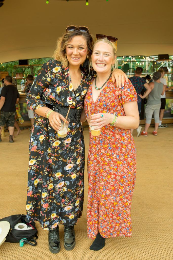 Claire Murray & Elaine Abbott Siwob pictured at The Jameson Bar at All together now Festival in Waterford over the Bank holiday weekend. Picture: Allen Kiely
