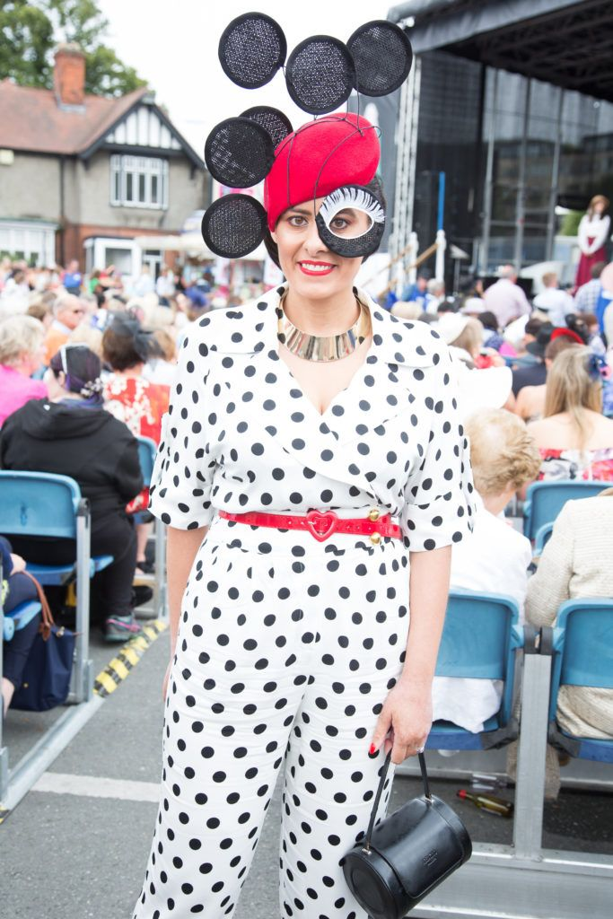 Claire Cameron pictured at the Dundrum Town Centre Ladies Day at the Dublin Horse Show. This years winner was Deirdre Kane from Carlow. Photo: Anthony Woods