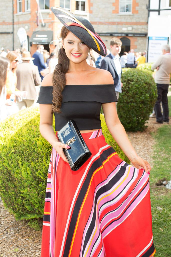 Jennifer Wrynne pictured at the Dundrum Town Centre Ladies Day at the Dublin Horse Show. This years winner was Deirdre Kane from Carlow. Photo: Anthony Woods