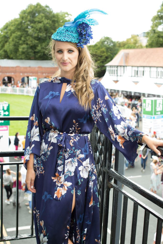 Justine King pictured at the Dundrum Town Centre Ladies Day at the Dublin Horse Show. This years winner was Deirdre Kane from Carlow. Photo: Anthony Woods