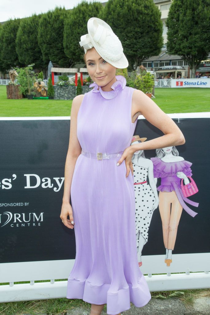 Retro Flame Erika Fox pictured at the Dundrum Town Centre Ladies Day at the Dublin Horse Show. This years winner was Deirdre Kane from Carlow. Photo: Anthony Woods