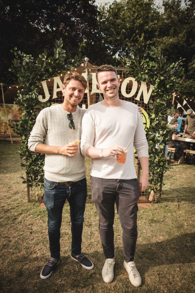 Pictured here is Andy Durrard and Colm Sparrow at The Big Grill in partnership with Jameson Irish Whiskey. Picture: Derek Kennedy