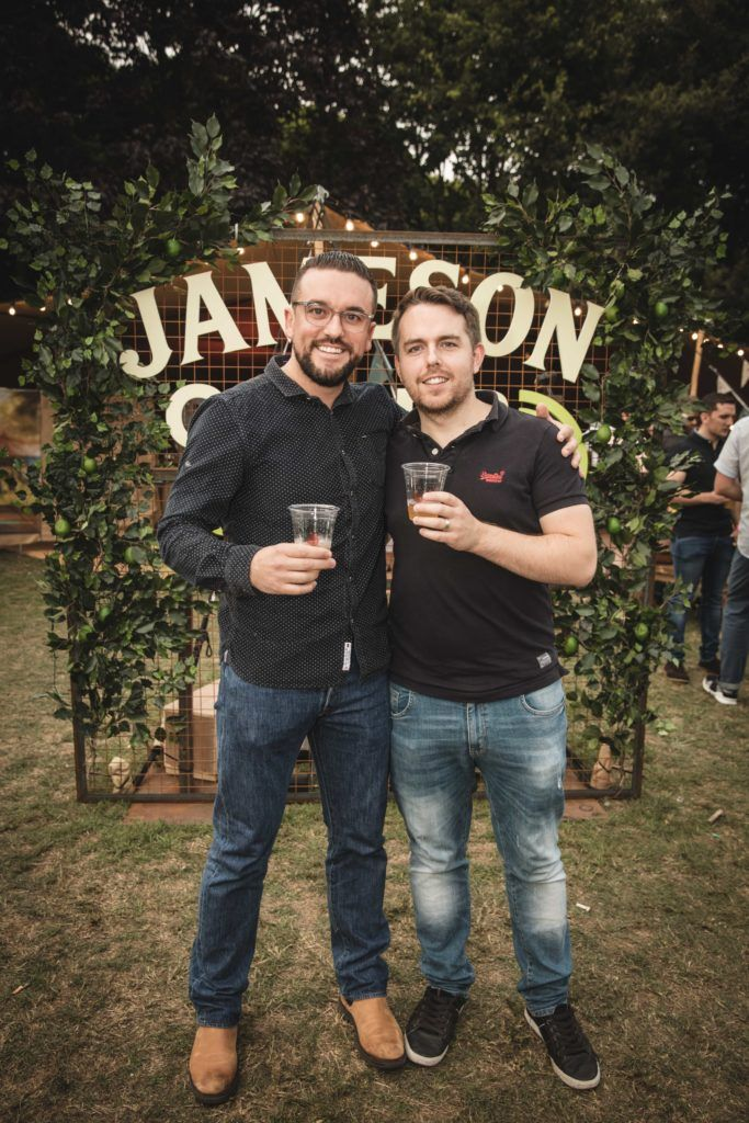 Pictured here is Fred Kelly and Cian De Bhulbh at The Big Grill in partnership with Jameson Irish Whiskey. Picture: Derek Kennedy
