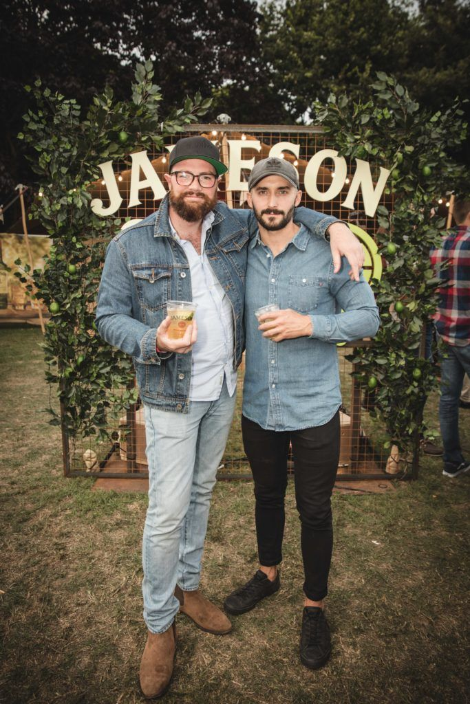 Pictured here is Jordan Hennessey and Matt Mise at The Big Grill in partnership with Jameson Irish Whiskey. Picture: Derek Kennedy