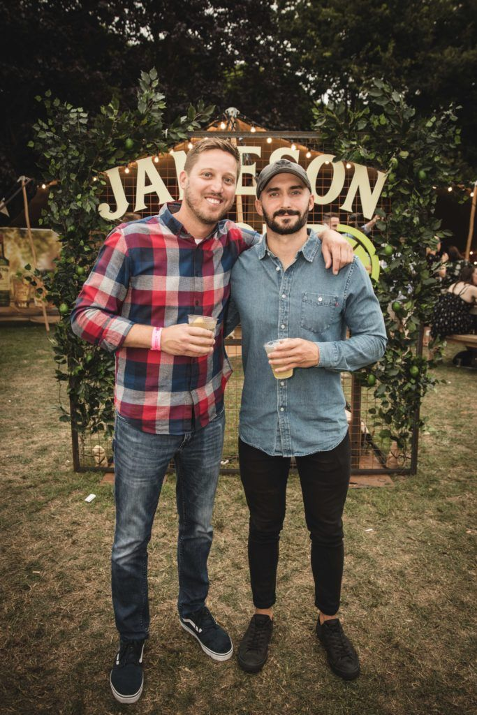 Pictured here is Andrew Groskorth and Matt Mise at The Big Grill in partnership with Jameson Irish Whiskey. Picture: Derek Kennedy