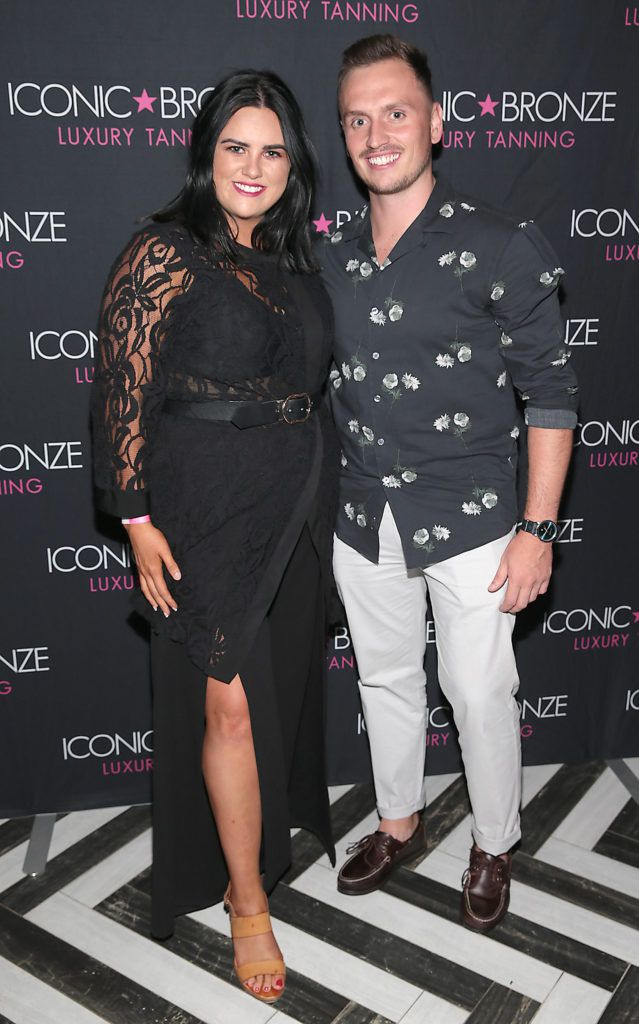 Mikaela McNamee and David Price at the Iconic Bronze Extra Dark Tan launch at the Ivy Garden Hotel, Dublin. Picture: Brian McEvoy