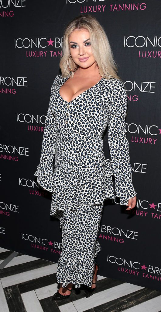 Rachel Wallace at the Iconic Bronze Extra Dark Tan launch at the Ivy Garden Hotel, Dublin. Picture: Brian McEvoy