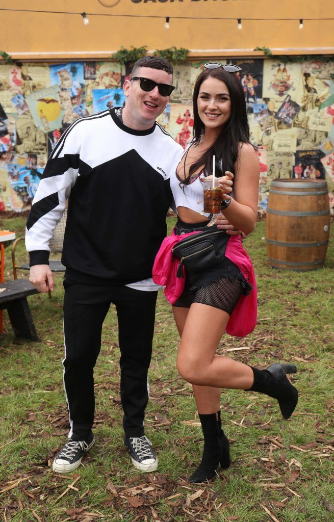 Evan Doherty and Laura Fox pictured in the renowned Casa Bacardi on Day Two of Electric Picnic 2018. Pic: Robbie Reynolds