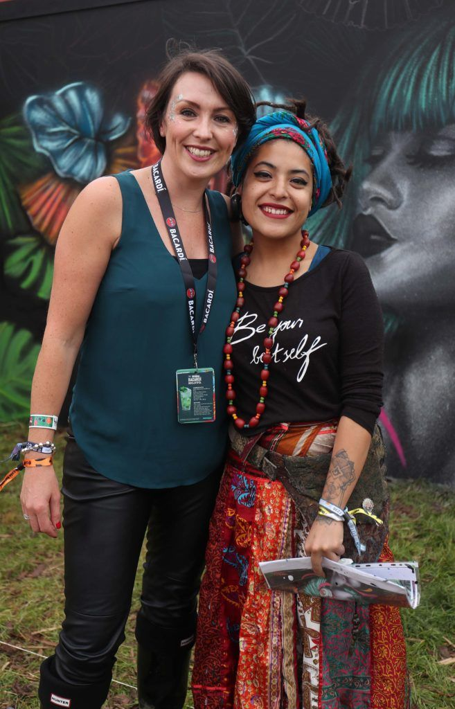 Lorraine Nolan and Kathrina Rupit pictured in the renowned Casa Bacardi on Day Two of Electric Picnic 2018. Pic: Robbie Reynolds